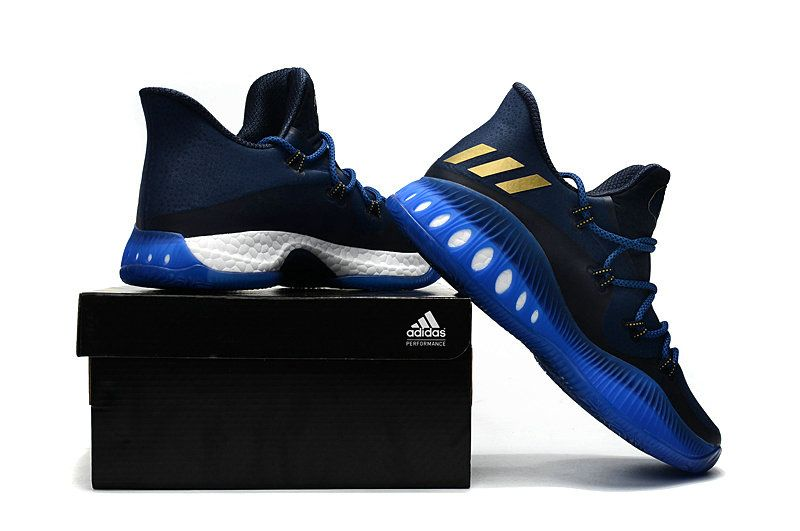 save off 5bfc1 0430c Populaire adidas Crazy Explosive Low Andrew Wiggins Collegiate Navy Matte  Gold Blue BW0571