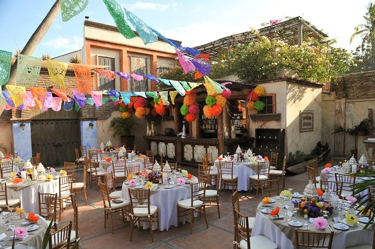 Mexican Dinner Party Decorating Ideas Part - 30: Hacienda Party Decorating Ideas   Mexican Rehearsal Dinner Decor   ...  Cabos, Mexico