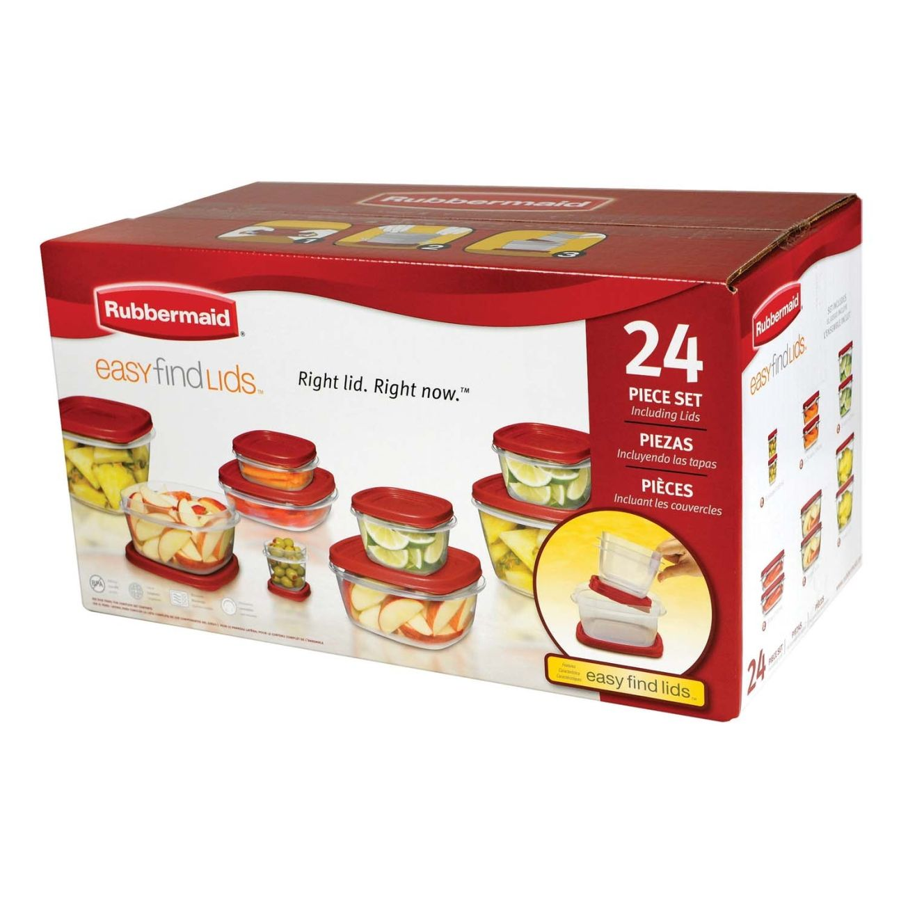 Rubbermaid Easy Find Lids 24 Piece Food Container Set 1779217 Plastic Storage