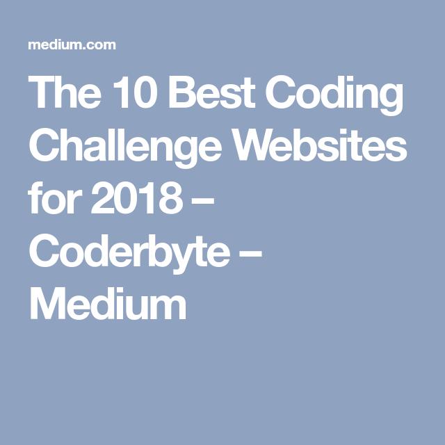 The 10 Best Coding Challenge Websites for 2018 | Programming