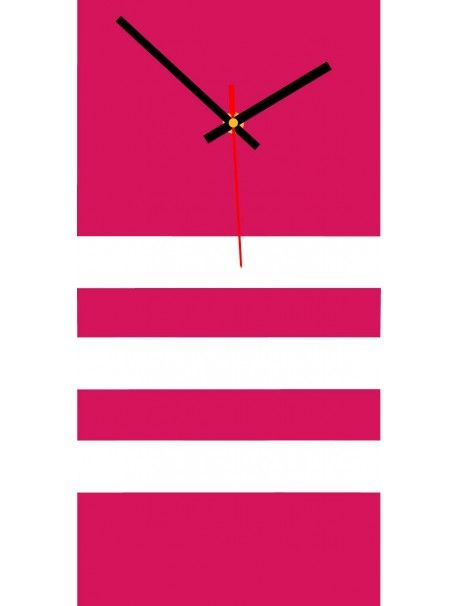 Elegante 3D Wanduhr NATZ, Farbe rosa, weiß Artikel-Nr X0023 - schöne wanduhren wohnzimmer