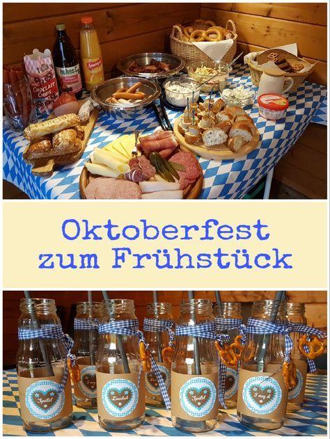 Oktoberfest zum Frühstück, Weißwurst, Haxen, Wurst, süßer Senf, Laugenstangen und alles was dazu gehört #octoberfestfood