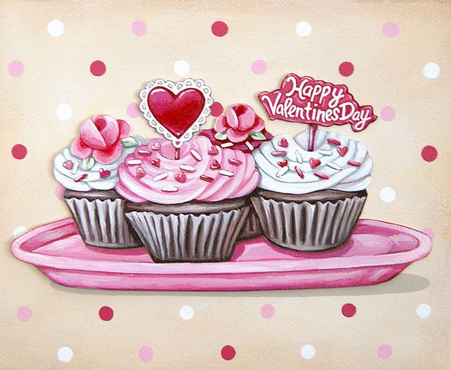Valentines Cupcakes print by Everyday is a Holiday – Cupcake Valentine Card