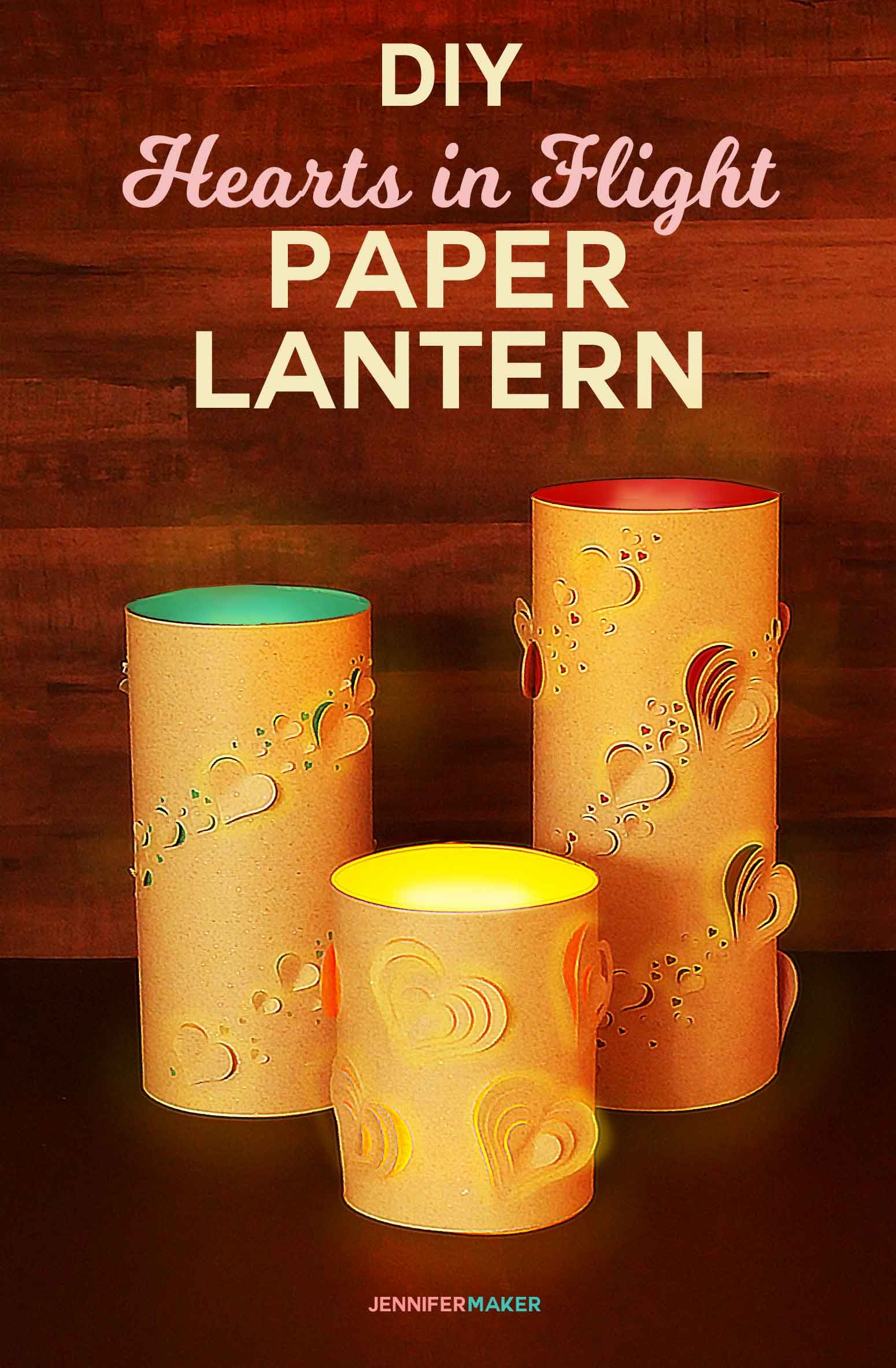 Lit Bambou Fly Diy Paper Lanterns Hearts In Flight Best Of Jennifer Maker