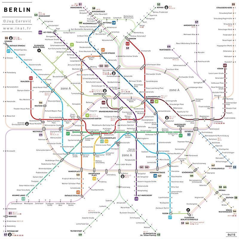 Berlin U Bahn S Bahn Map Art Print By Jug Cerovic In 2020 Metro Map Art Transit Map Metro Map