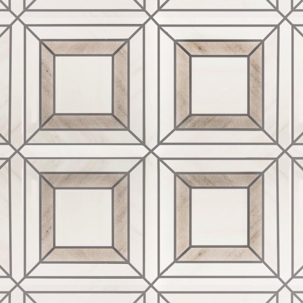 madison dolomite polished marble mosaic