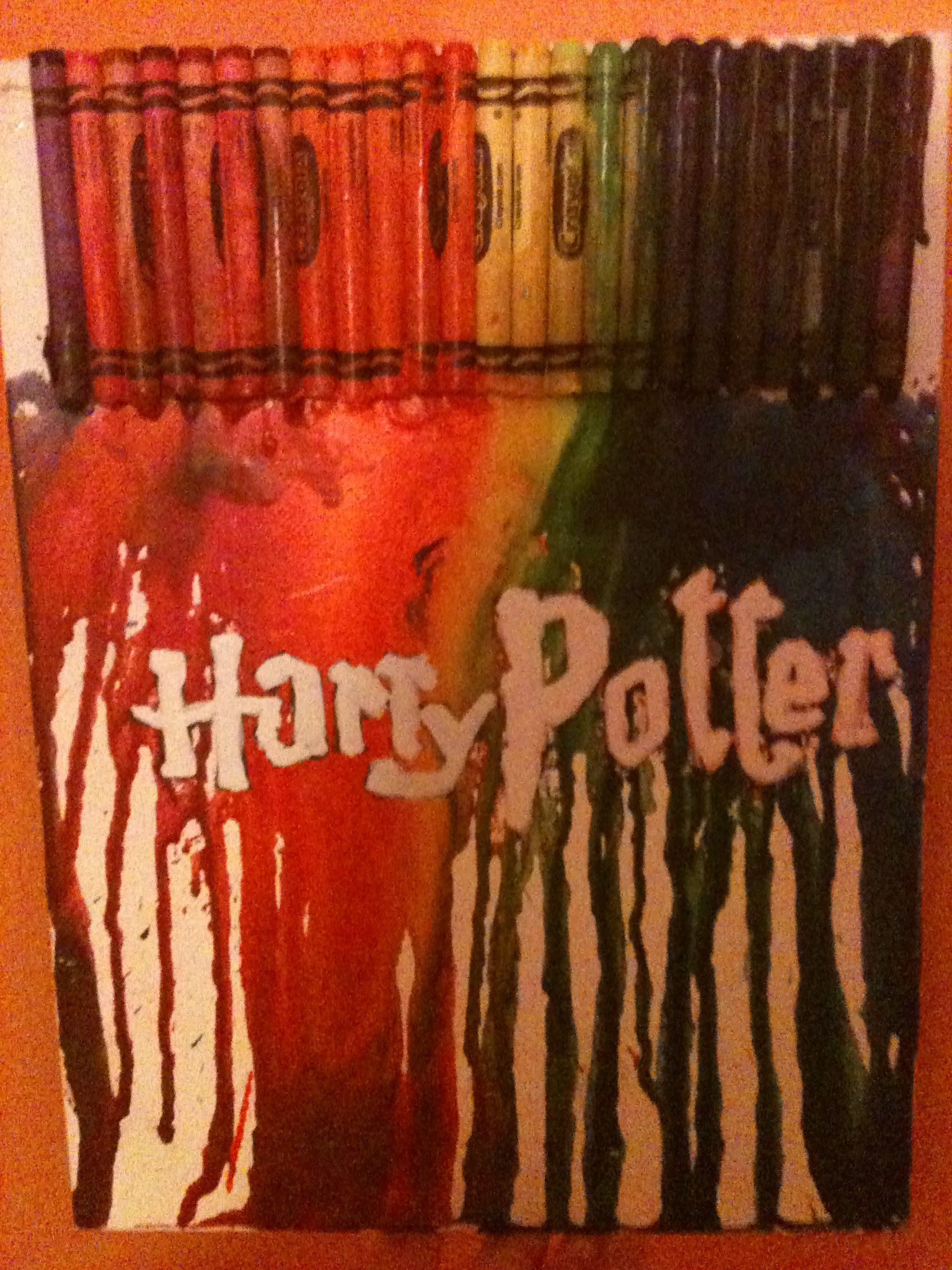 Melted Crayon Harry Potter