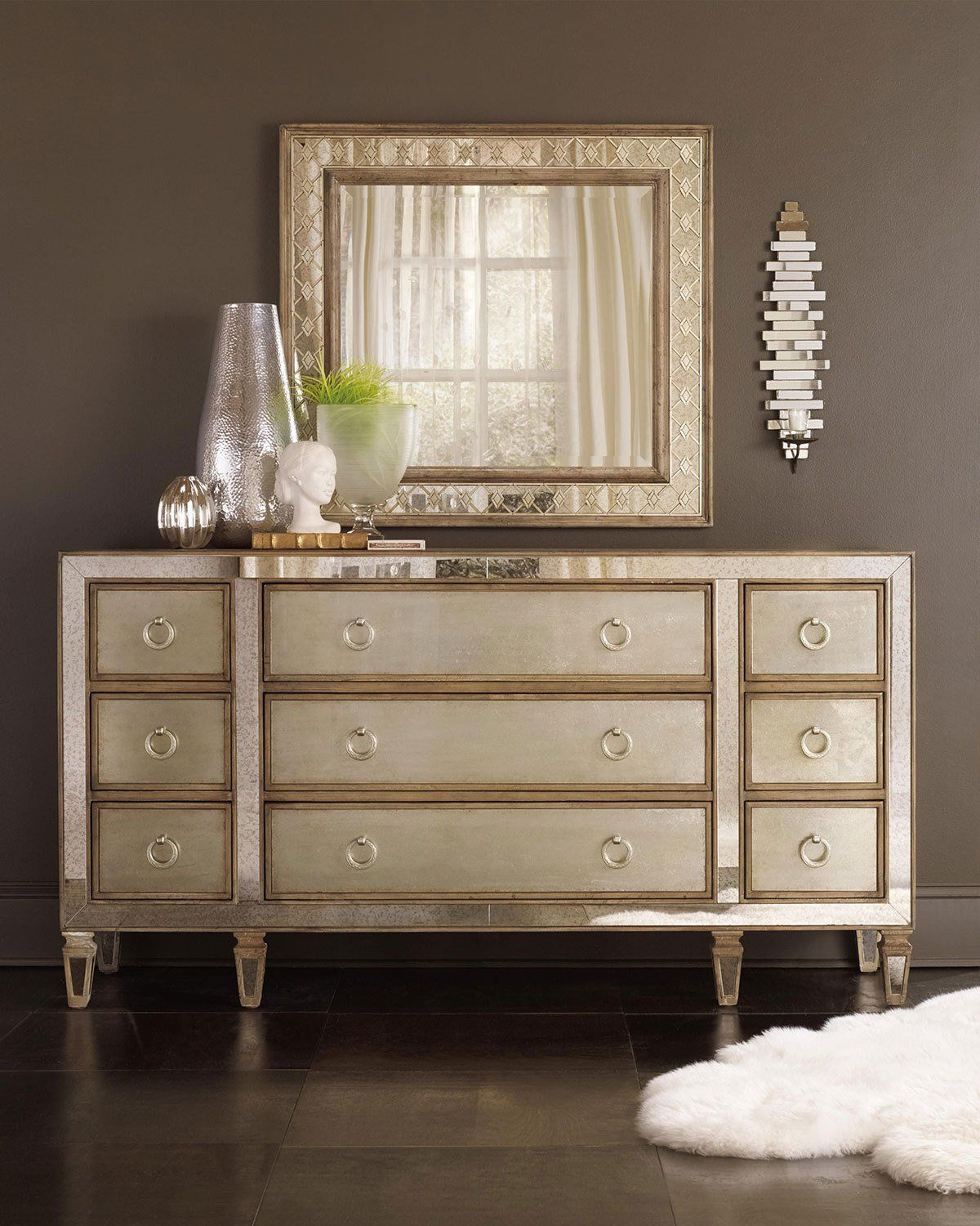 Furniture Bedroom Dressers Mirrored