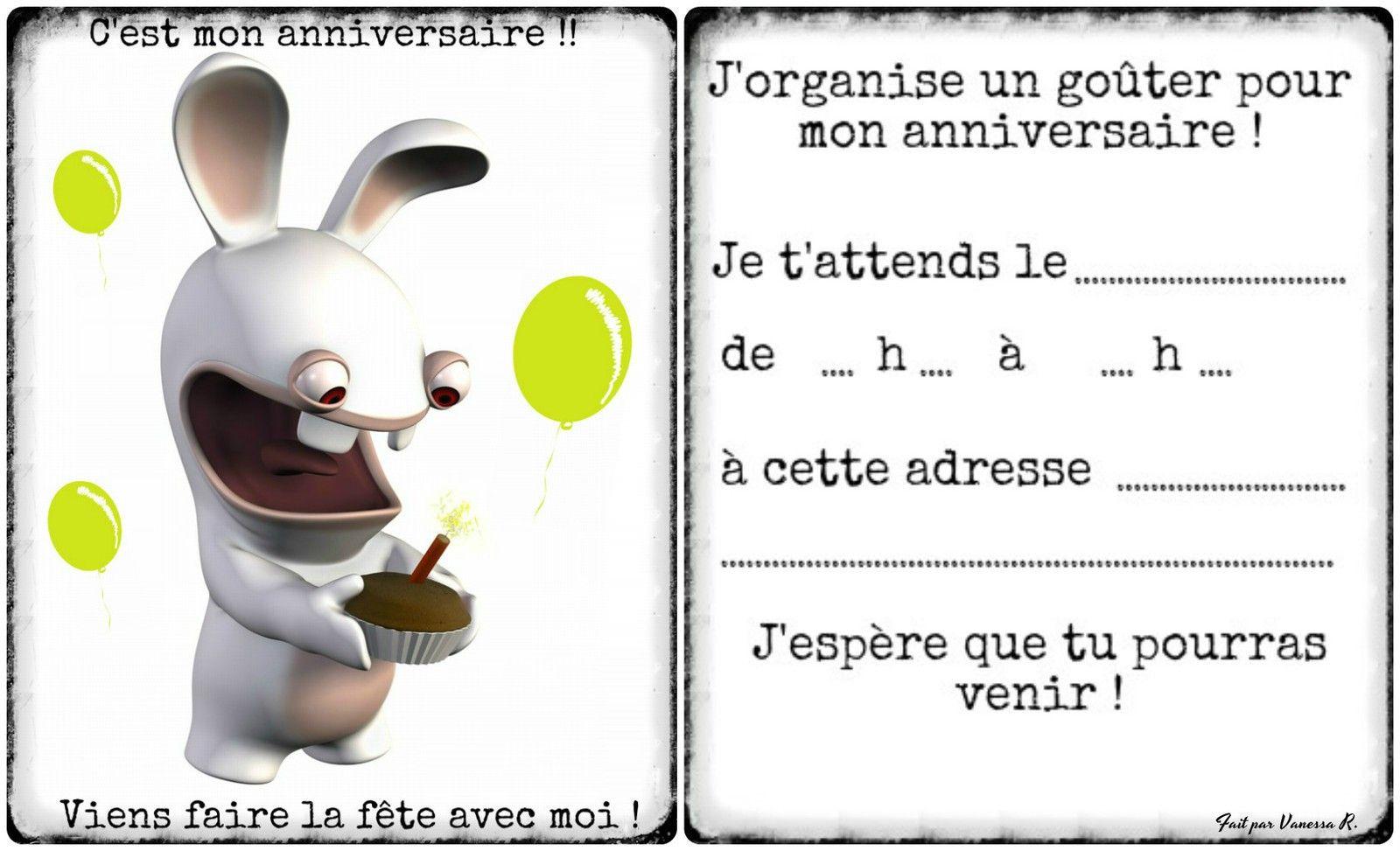 carte invitation anniversaire 10 ans a
