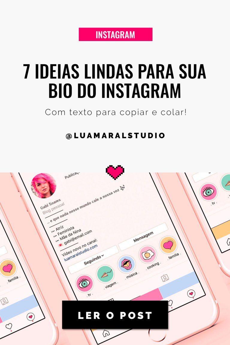 7 Gorgeous Ideas For Your Instagram Bio Em 2020 Bio Do Instagram Instagram Bio