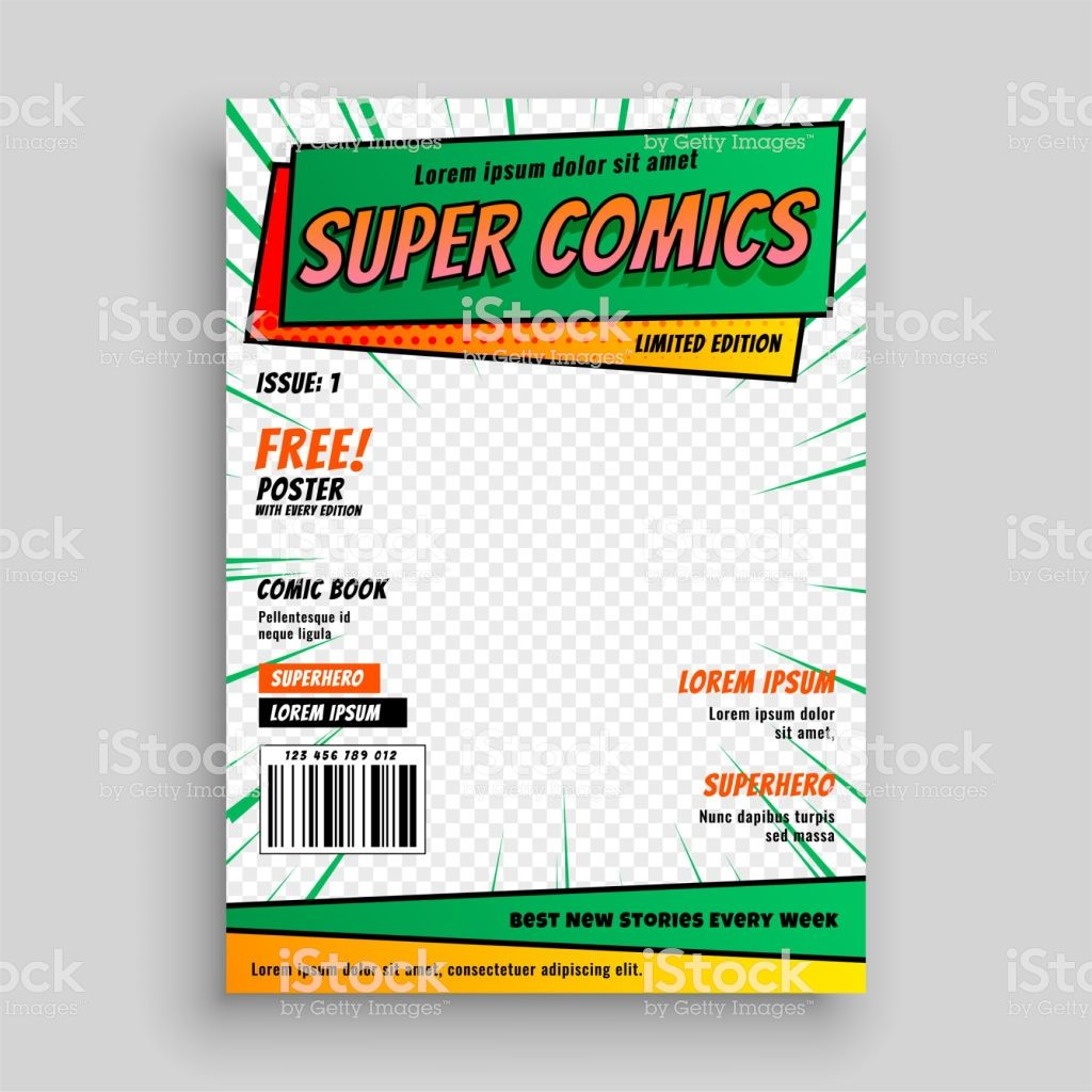 Comic Book Cover Layout Template Comic Book Template Book Cover