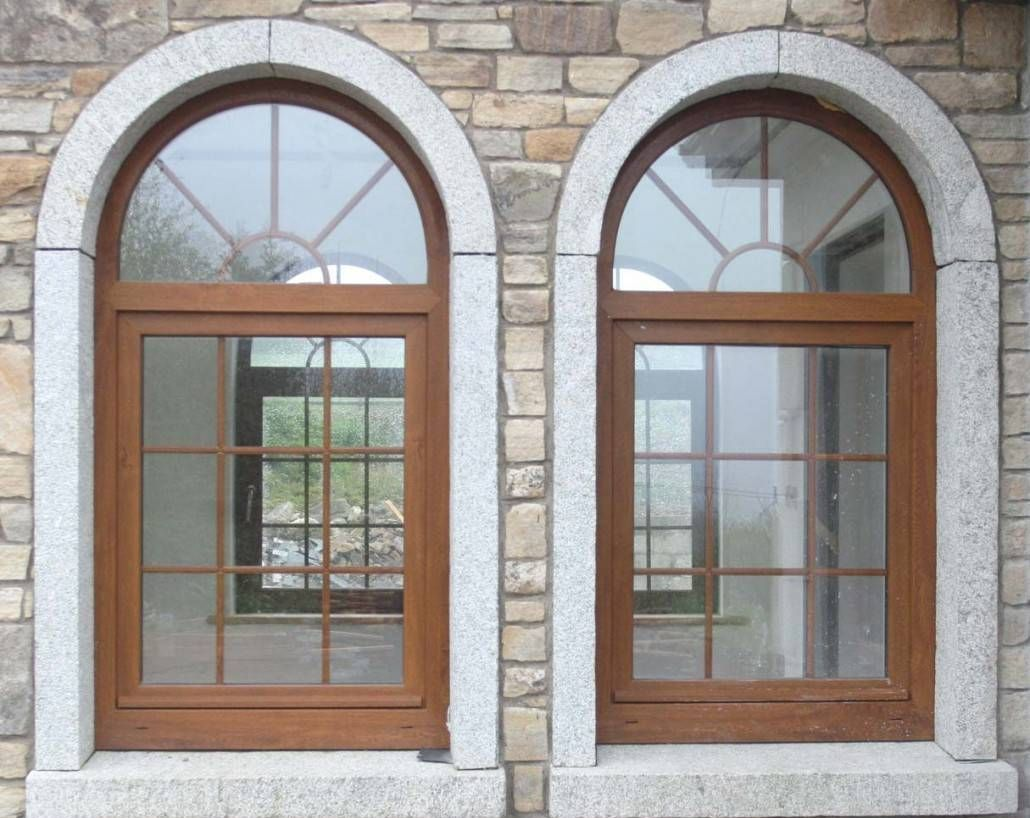 Granite arched home window design ideas exterior home for Home window design pictures