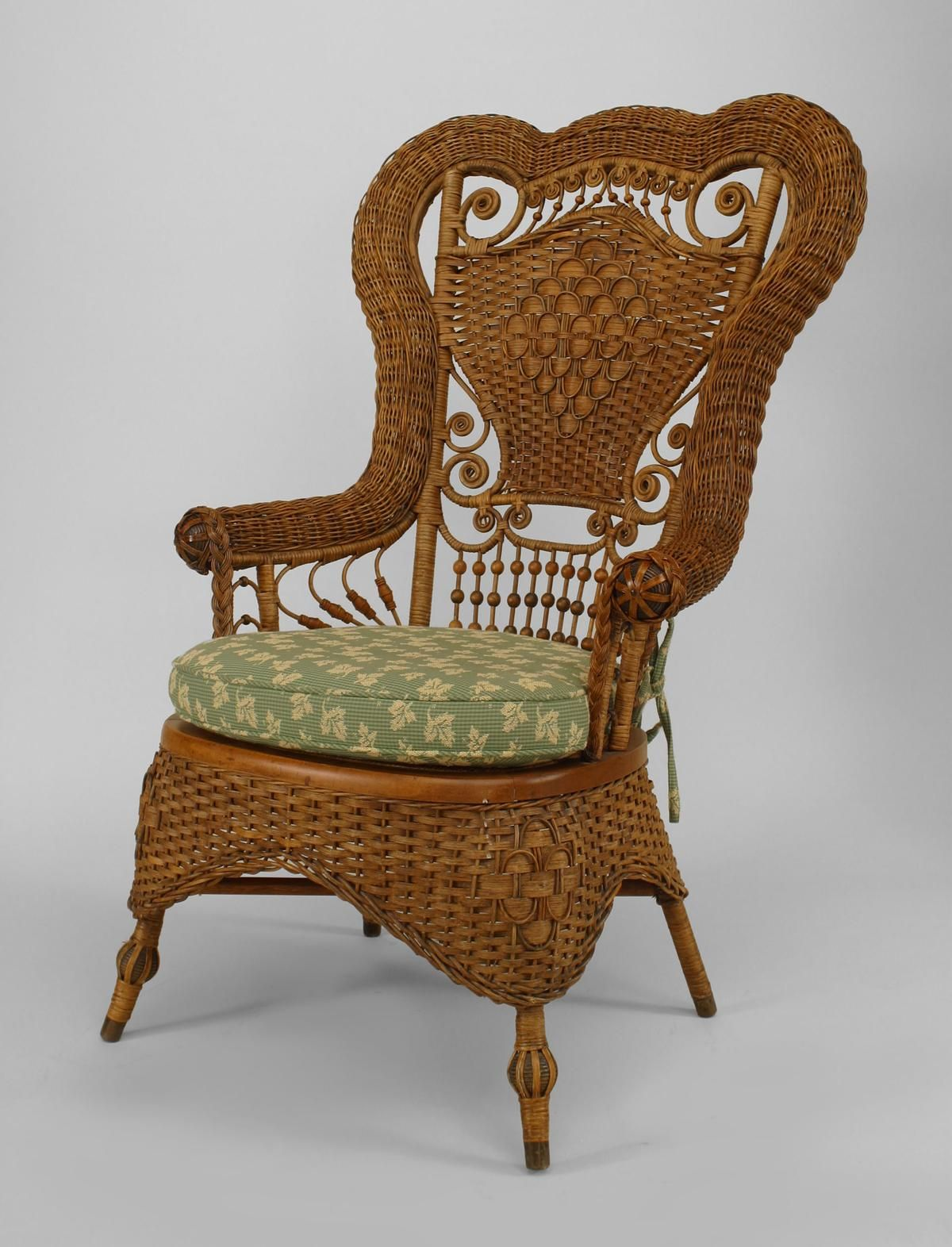 Wicker Victorian seating chair/arm chair natural ...