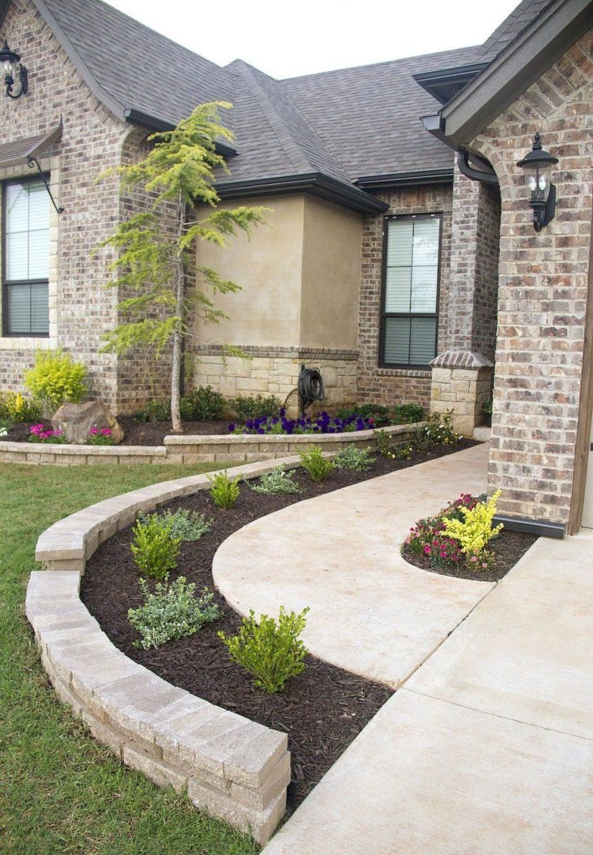 43 simple and beautiful front yard pathways landscaping ...