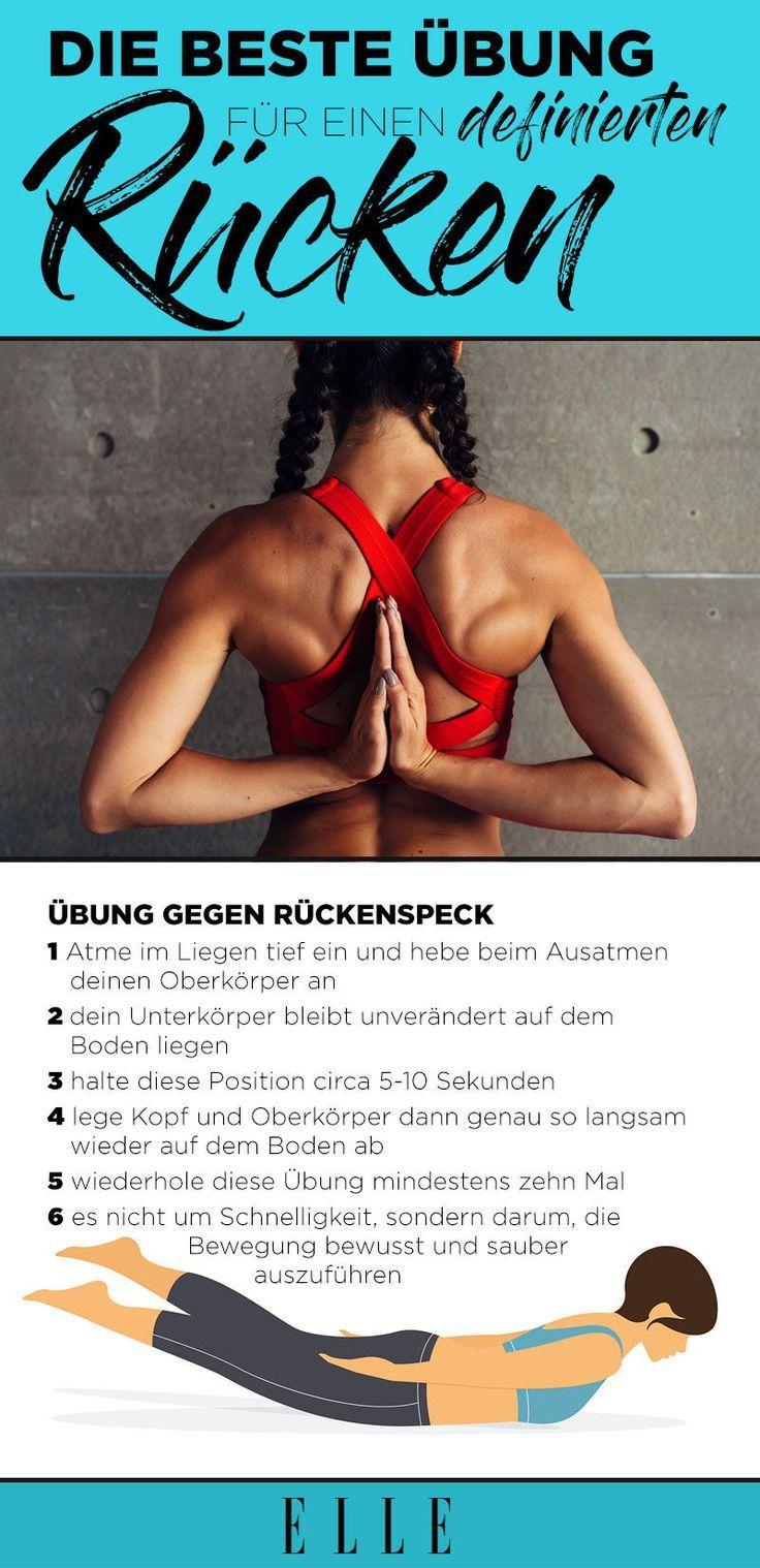 Rückenfett loswerden: Die Übung für einen definierten Rücken   - Fitness Tipps - #definierten #die #...