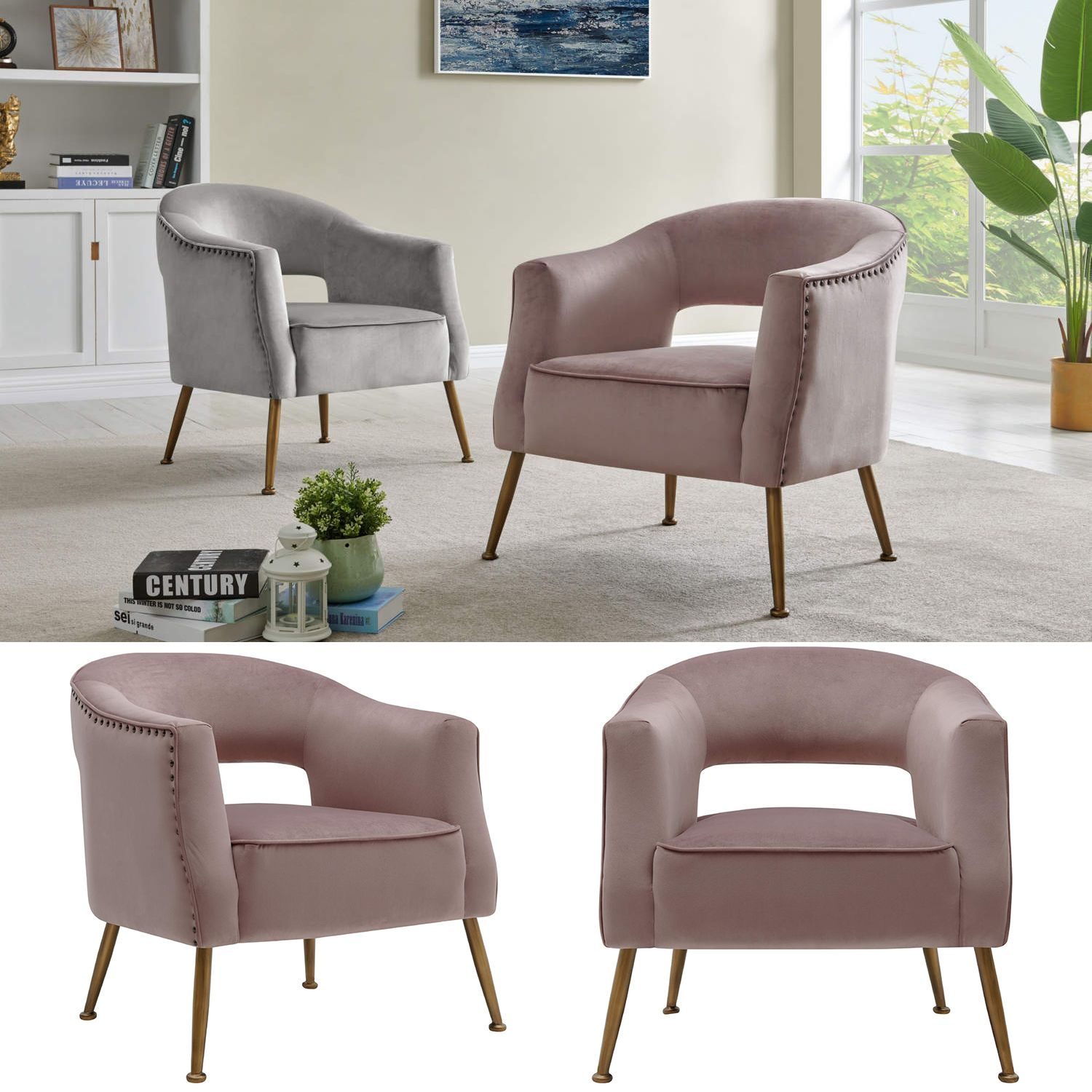 Best New Pacific Direct 1250008 396 Cerise Accent Chair Blush 400 x 300