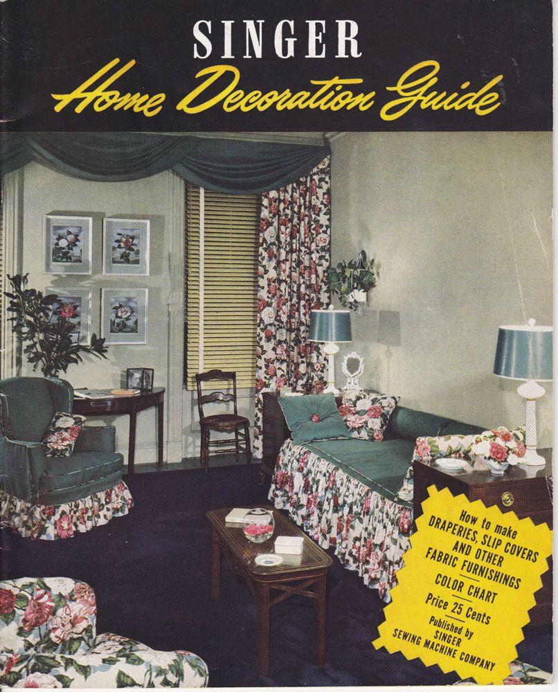 899 Vintage SINGER Home Decoration Guide