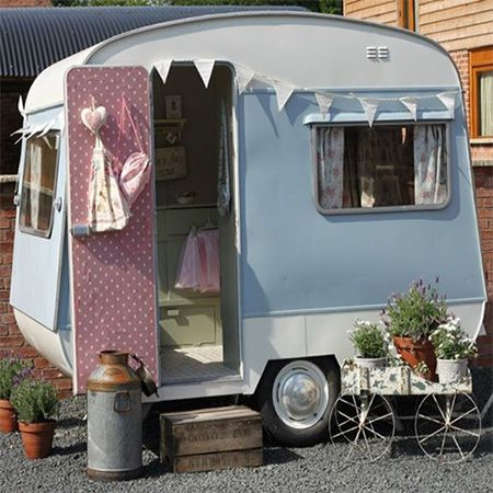 Small caravan wendy house playroom babies and kids for Wendy house ideas inside