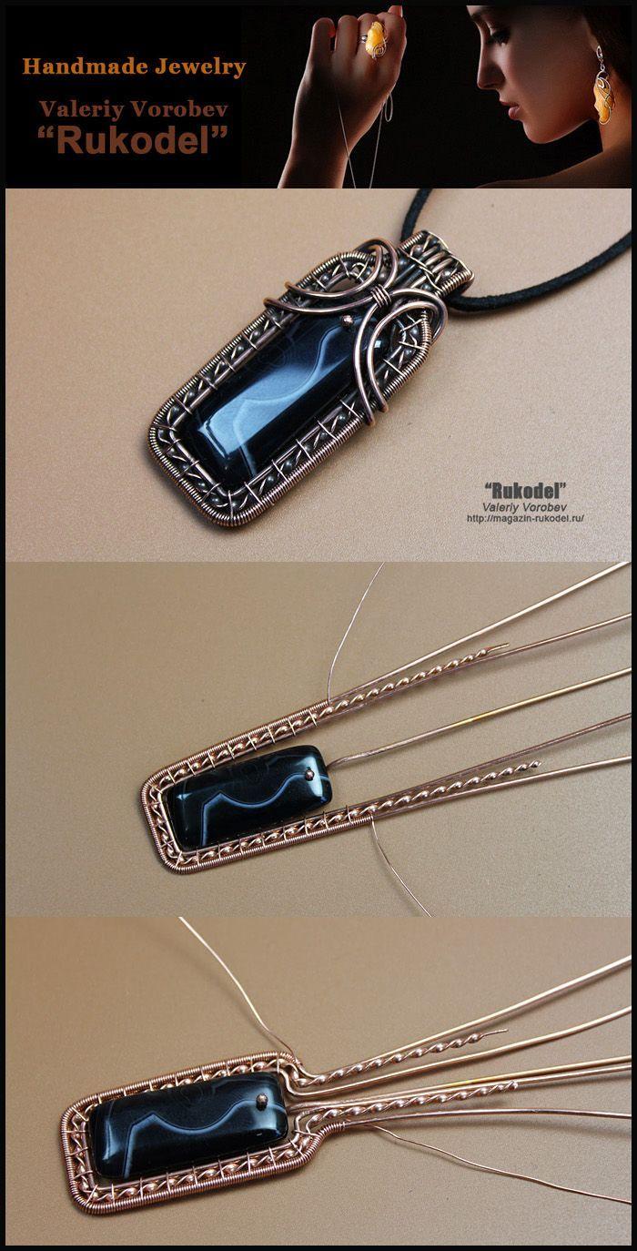 Photo of wire wrap, wire wrapped, wire jewelry, handmade, craft, wire work, handmade jewelry – basteln