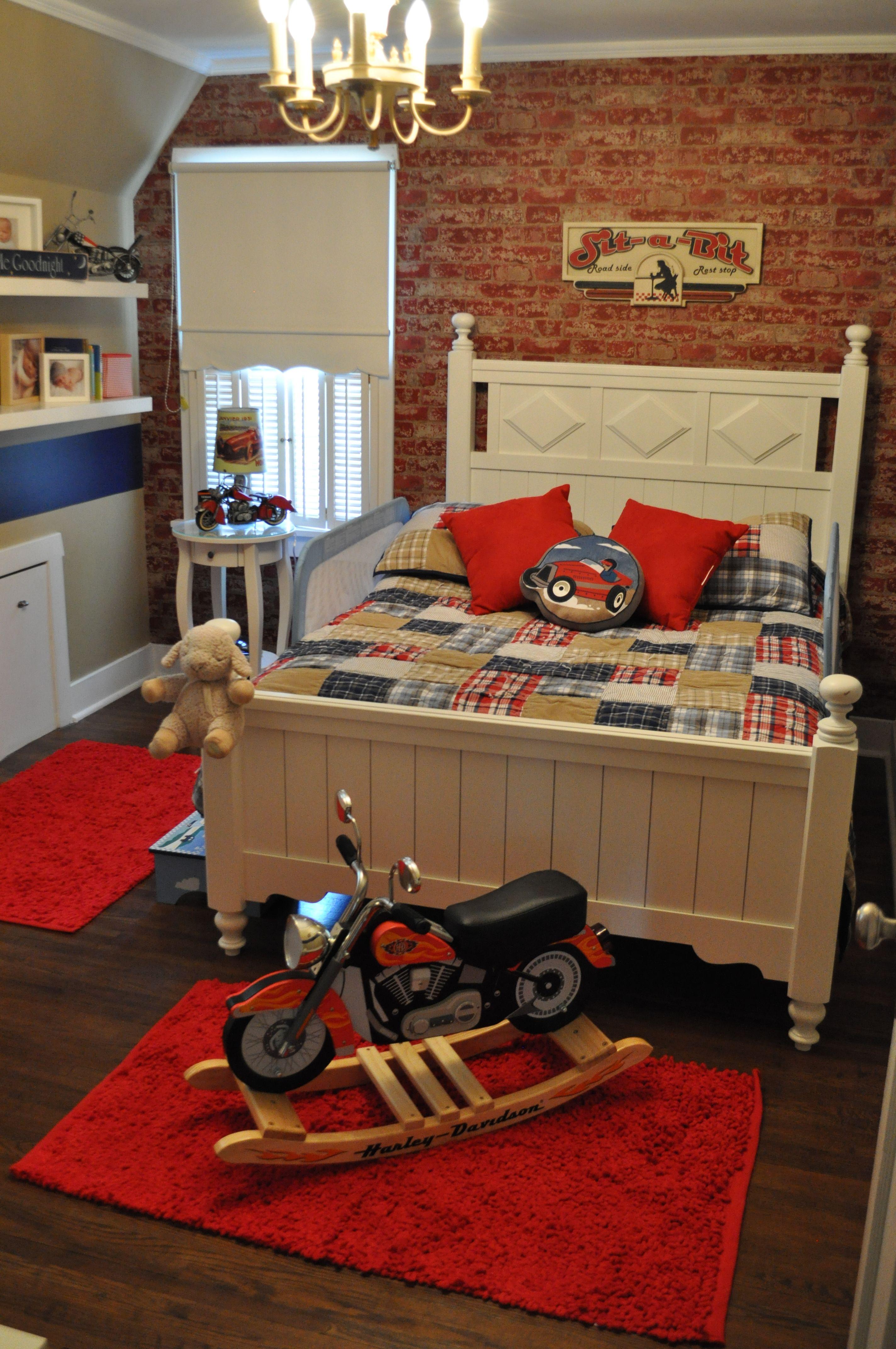 Beautiful Baby Boy Rooms: Wyatt's Bedroom - Motorcycle Theme.