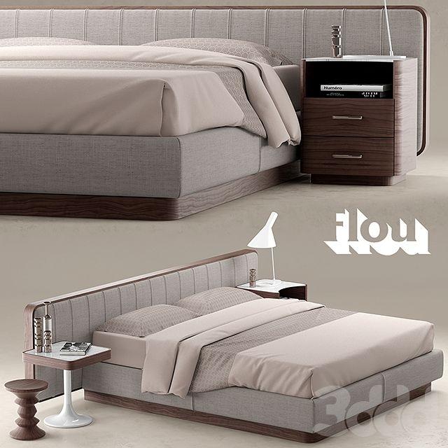 Кровать FLOU LETTO ERMES | 3D models | Pinterest | Bedrooms, Classic ...