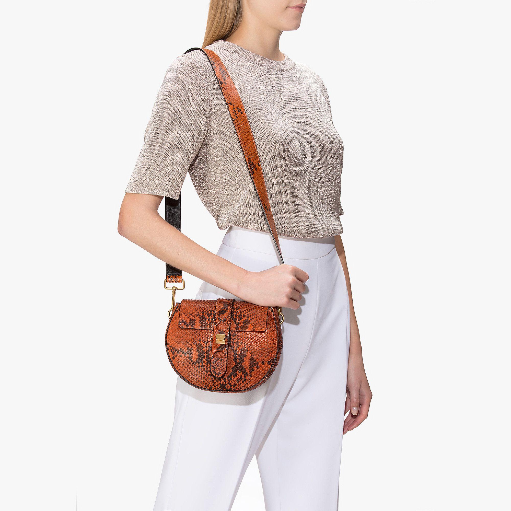 86605fdff0 Carousel python-print leather mini bag