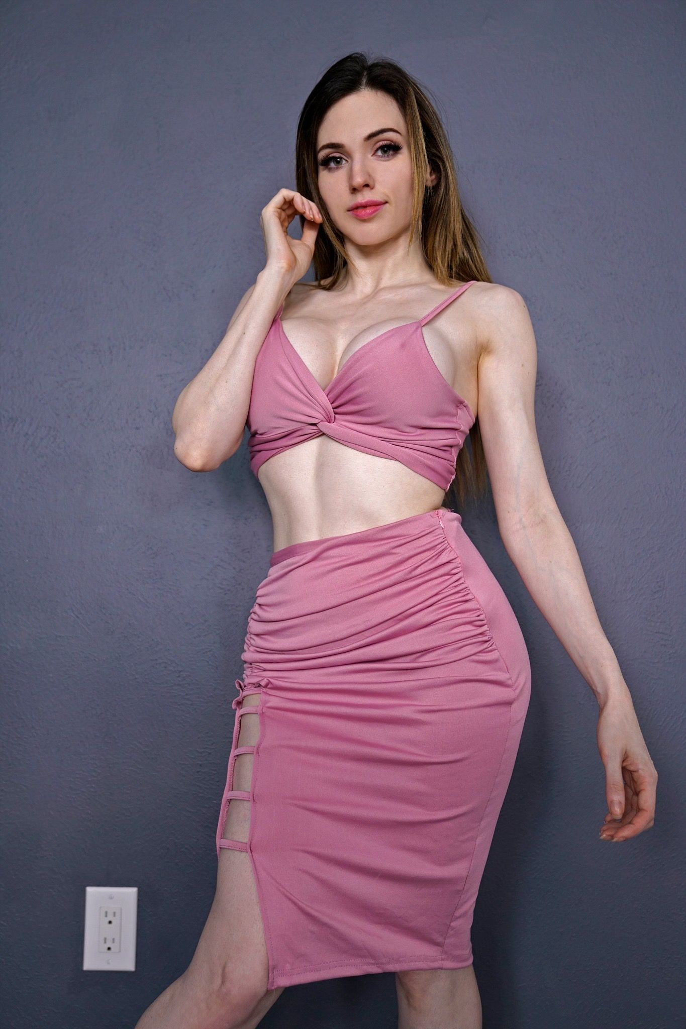 Pin By Bronson On Amouranth Glamour Two Piece Skirt Set Women