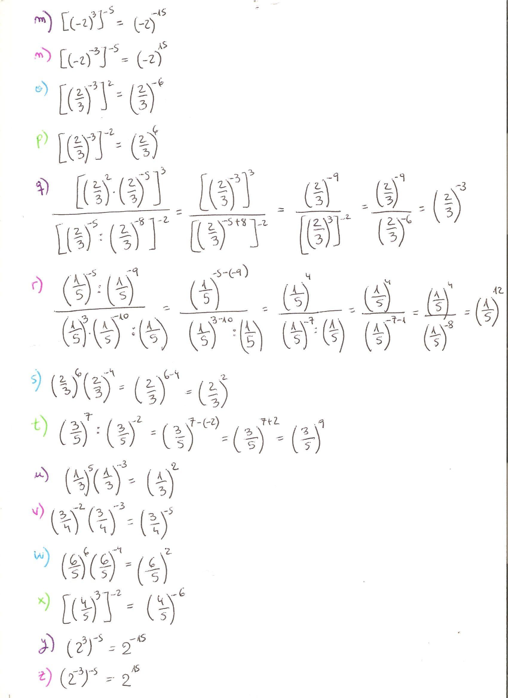 Ejercicios Resueltos De Potencias Grado Superior De Matemática Parte 2 Math Algebra Words