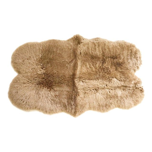 Forsyth Tan Quad Sheepskin Rug - 3′7″ × 6′