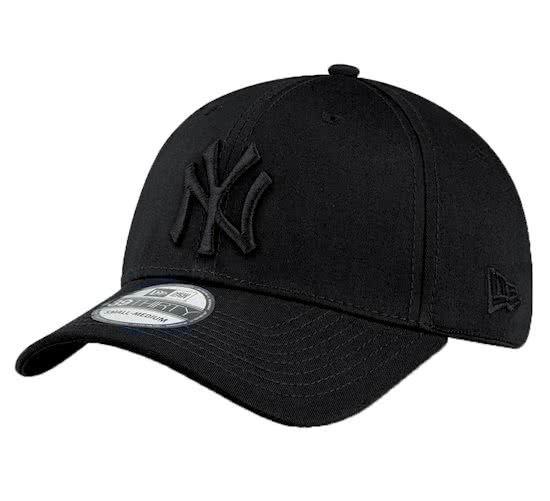 New Era Mlb New York Yankees Cap 39thirty M L Black Black Gorras Negras Gorras Curvas Gorras De Moda