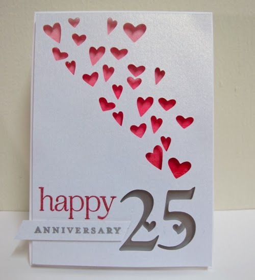 Swanlady Impressions: 25Th Wedding Anniversary | Handmade Cards