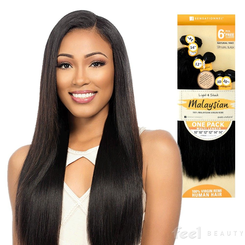 Sensationnel Unprocessed Malaysian Virgin Remy Human Hair Weave