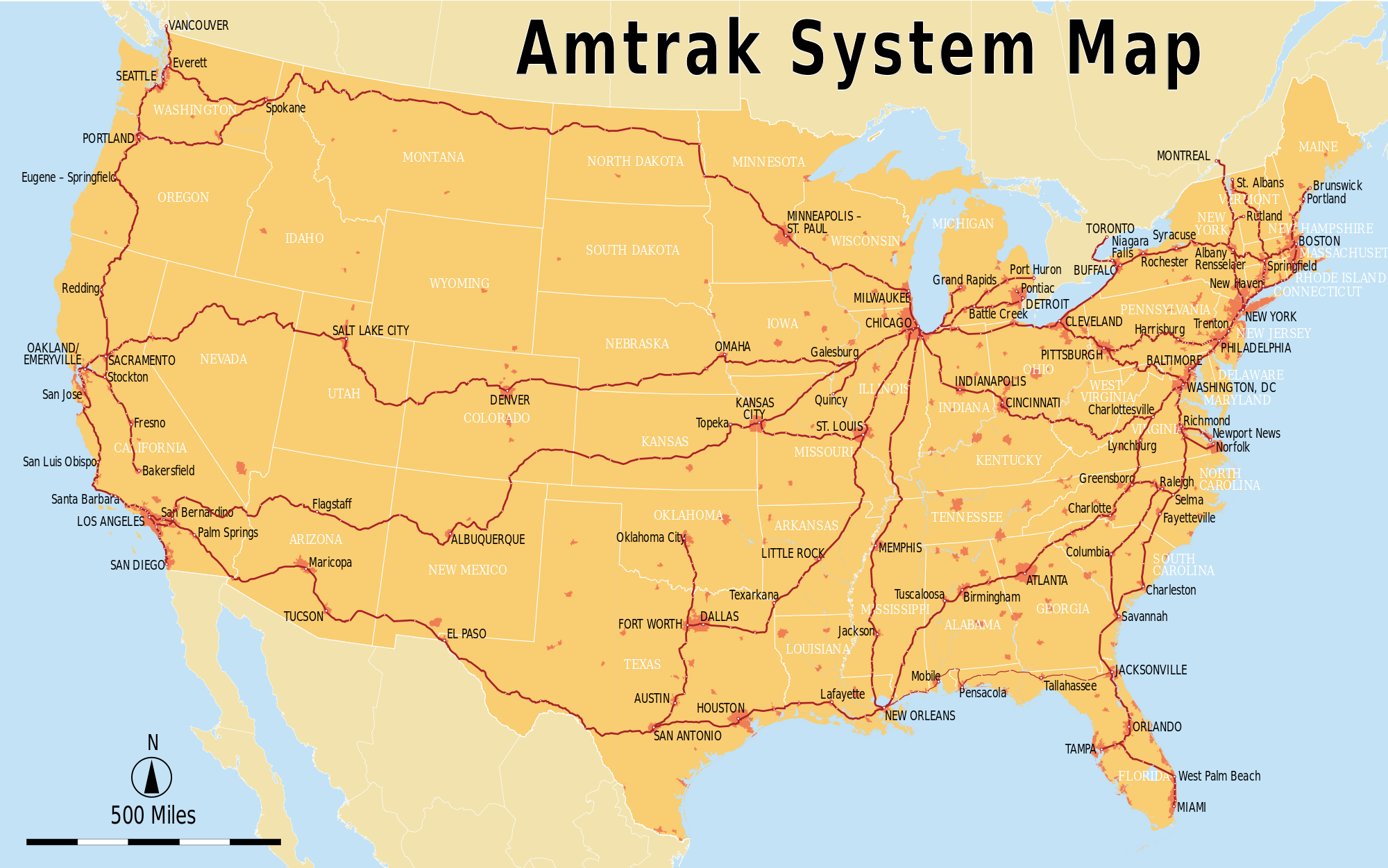 Train Travel Usa Map.Amtrak Train System Map Future Train Travel Travel Amtrak