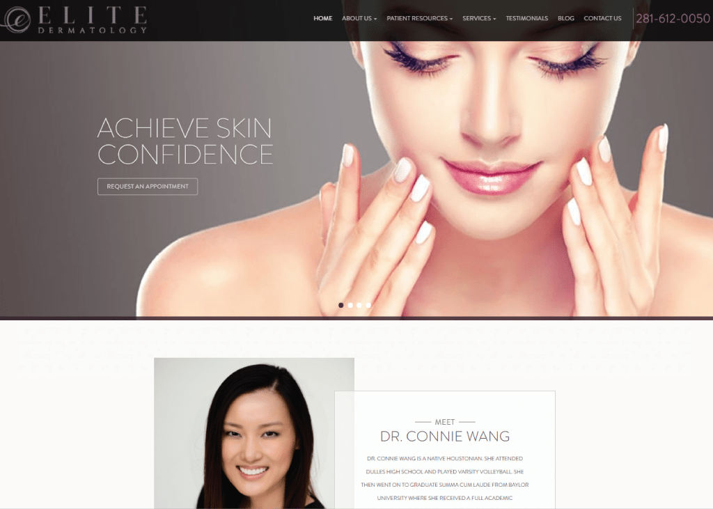 Elite Dermatology Learn Here More About How Optimized360 Designed A Great And Custom Dermatology Website With The Dermatology Website Design Medical Websites
