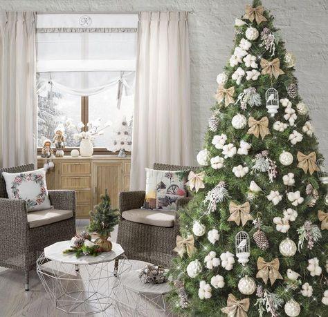 Bialo Zlota Choinka Holiday Decor Winter Wedding Christmas Time