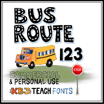 Fonts Kb3 Alpha Highway 4 Font Set Personal Commercial Use