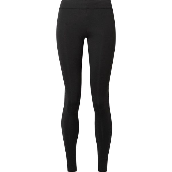 The Row Relma stretch-scuba leggings featuring polyvore, women's fashion, clothing, pants, leggings, stretchy pants, pull on stretch pants, the row leggings, stretchy leggings and stretch pants