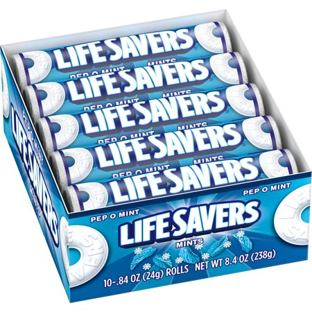 Life Savers Pep O Mint Candy 0 84 Ounce 20 Single Packs Mint