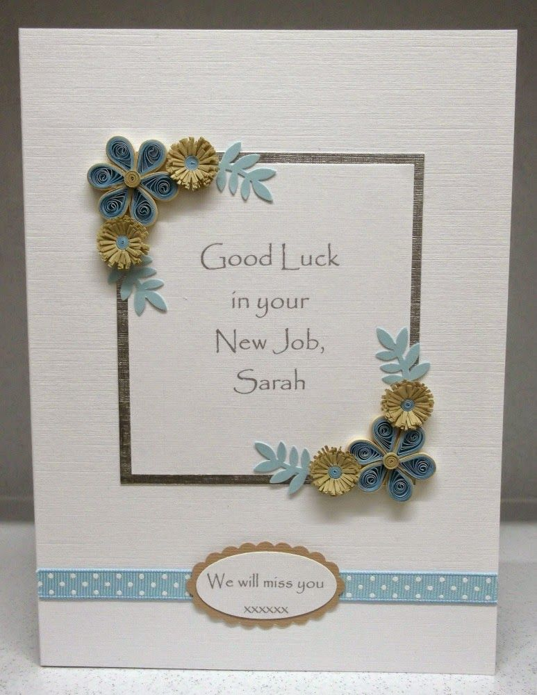 Paper daisy cards quilled new job card paper quilling greeting paper daisy cards quilled new job card stopboris Choice Image