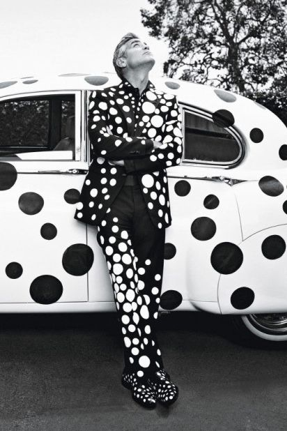 6c08819572c0 Image of George Clooney by Yayoi Kusama for W Magazine