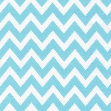 Quilt Fabric for Baby: Possible turquoise accent. Water Chevrons, Remix by Robert Kaufman Fabrics