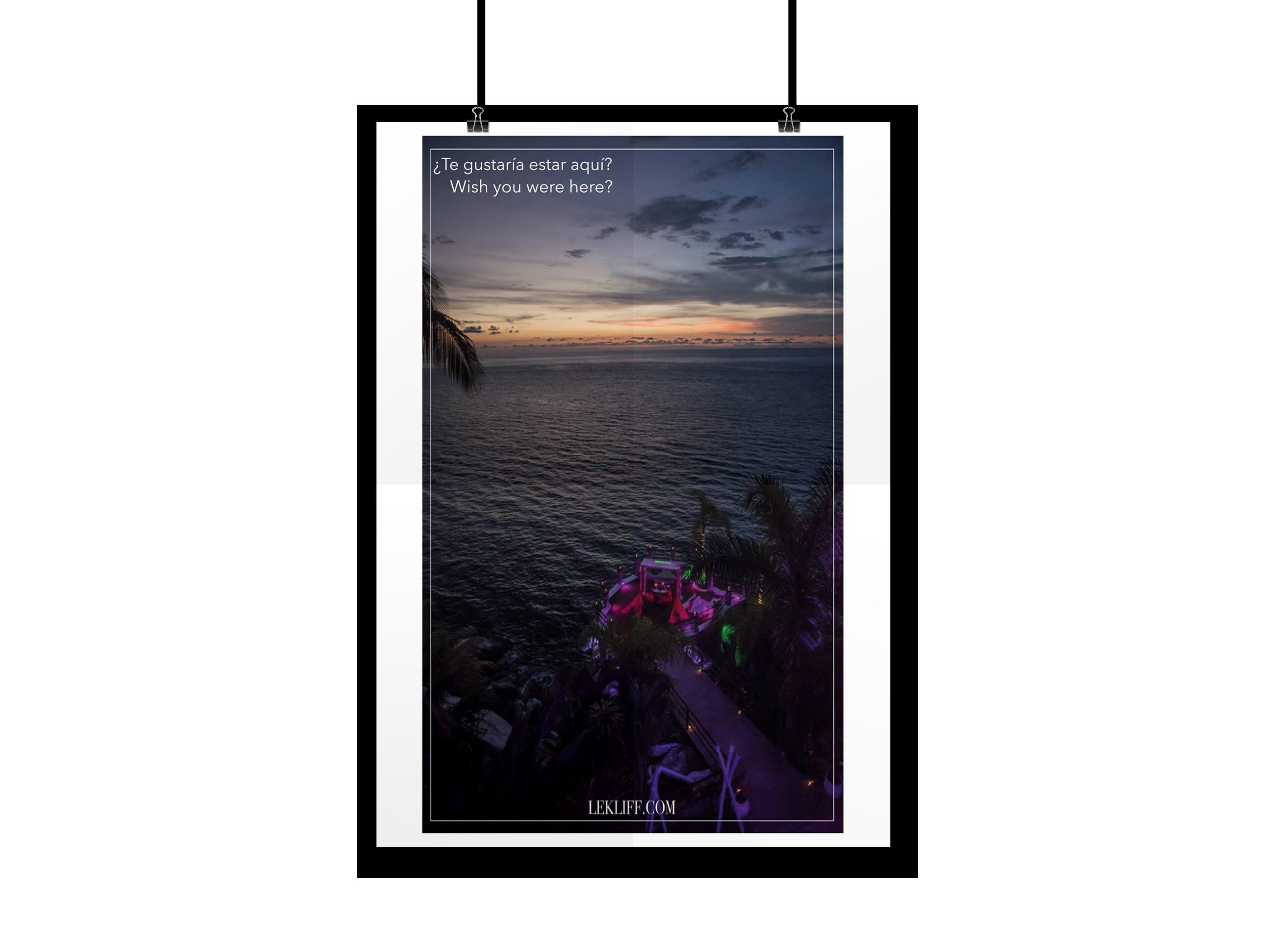 Fotografía y creación de cartel publicitario para restaurant LE-KLIFF.