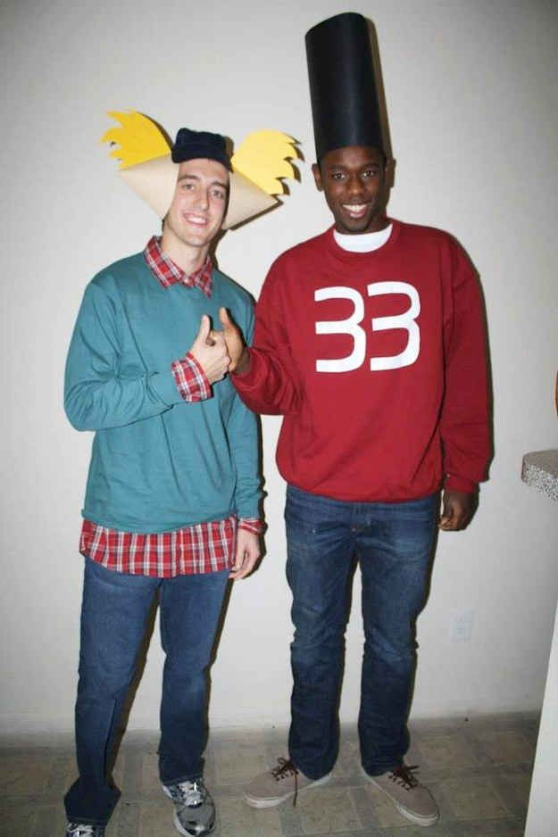 Arnold and Gerald from Hey Arnold!  sc 1 st  Pinterest & 25 Super Last-Minute Halloween Costumes That Will Blow Peopleu0027s ...
