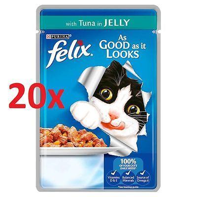 20x100g Purina Felix So Gut Wie Es Aussieht Katzenfutter