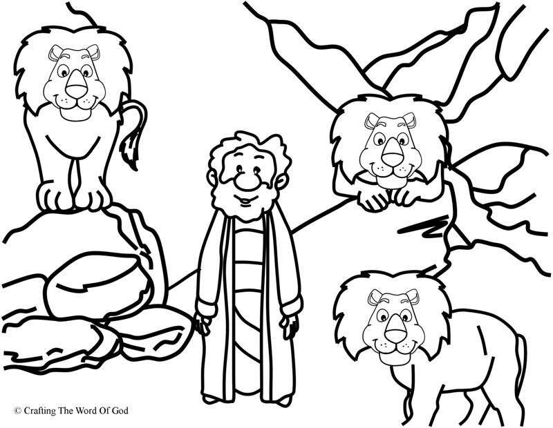 Daniel In The Lions Den Coloring Page Coloring Pages Are