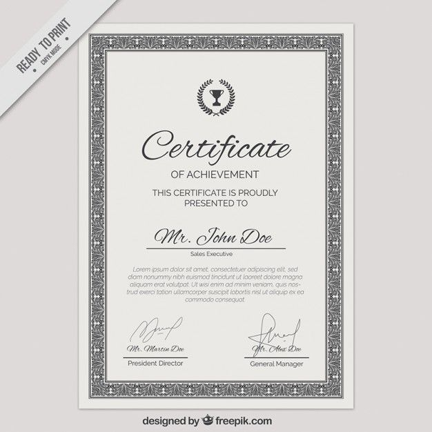 Download Ornamental Certificate Template For Free