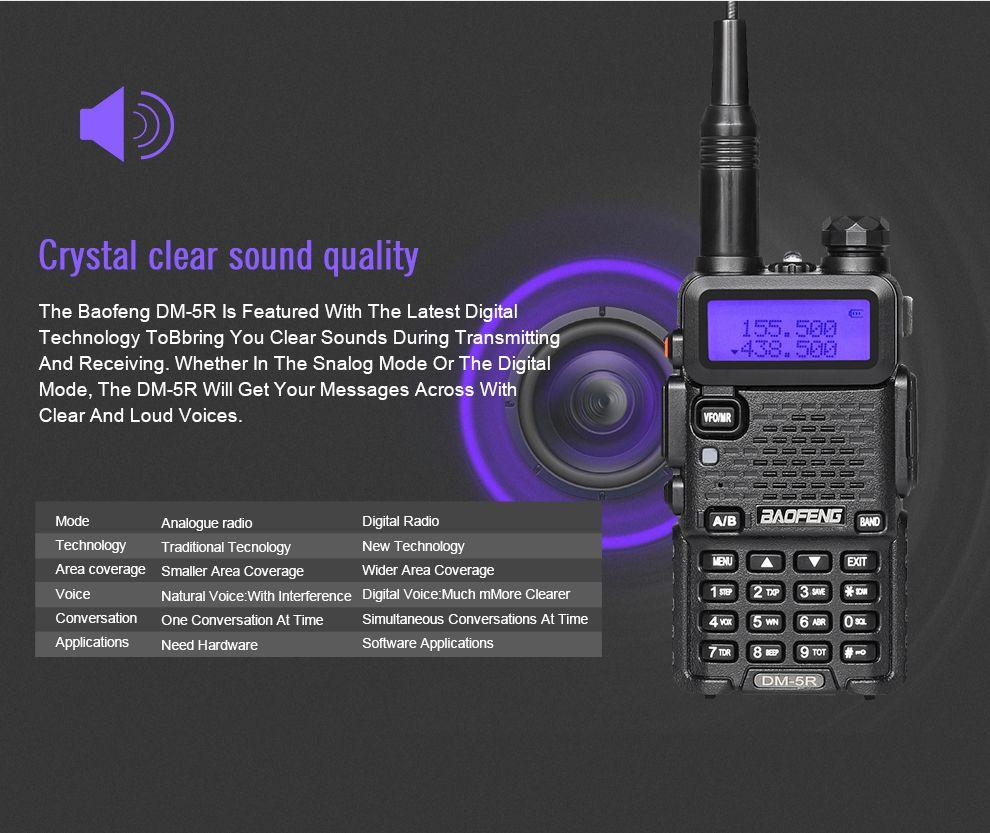 BAOFENG DM5R Walkie Talkie DMR Digital Radio UV5R