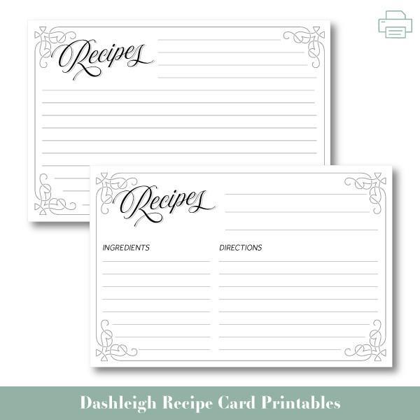 Pin On Recipe Card