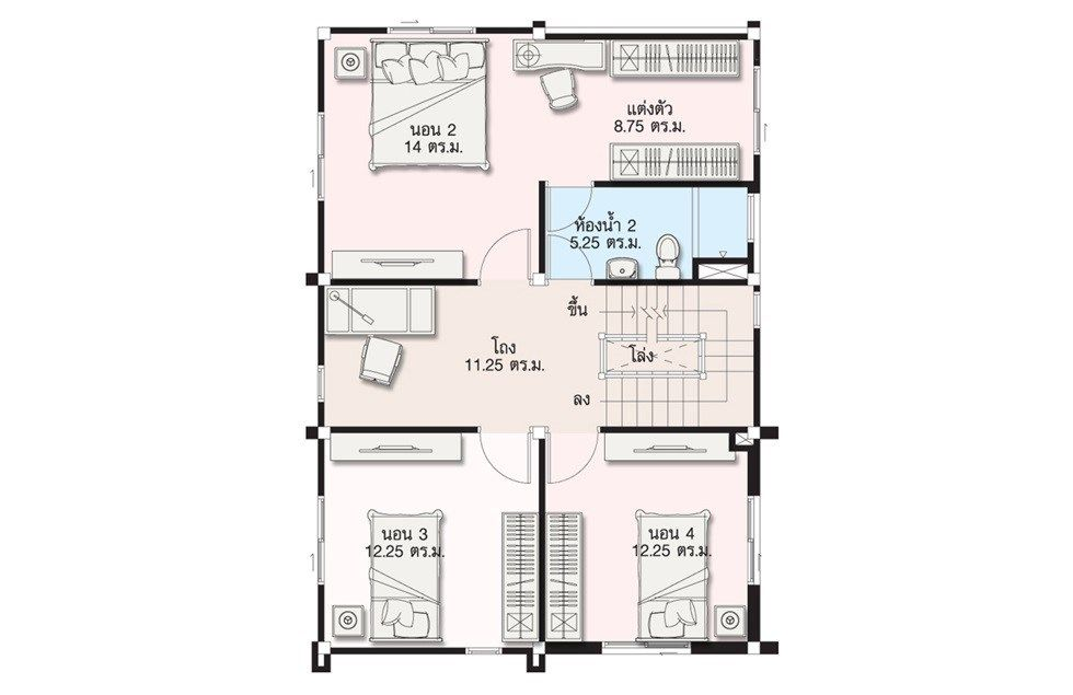 5 Ideas Home Design Plan 7x10m Samphoas Plan Home Design Plan Duplex House Design Duplex House Plans