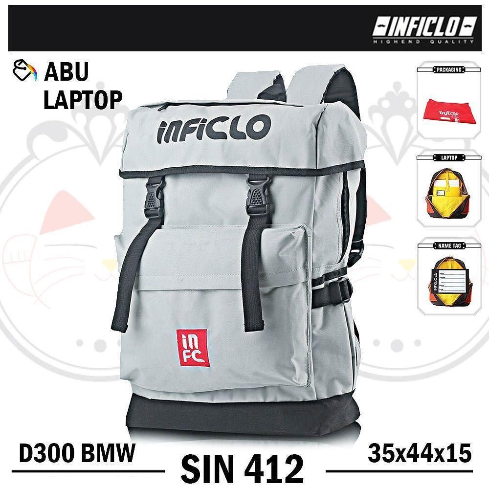 Inficlo Tas Laptop Ransel D 300 Sin 412 Gray Referensi Daftar Pria V42 Gendong Backpack Warna Abu Bahan